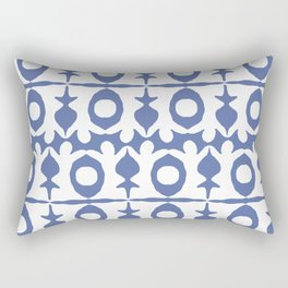 Blue Yoga Pattern Rectangular Pillow