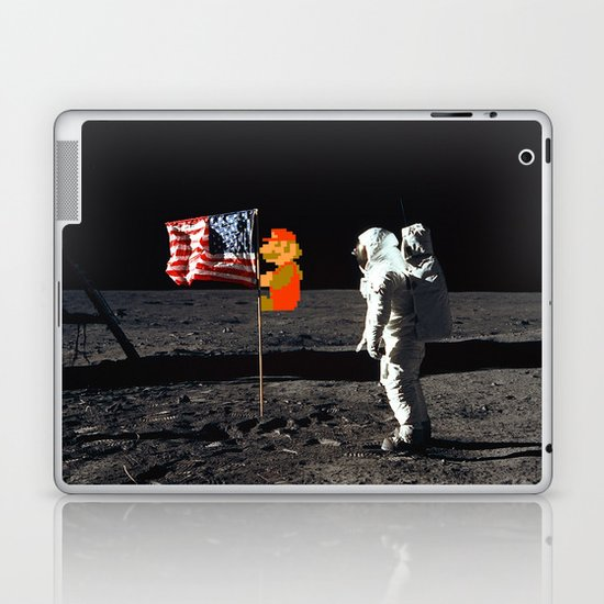 Super Mario on the Moon Laptop & iPad Skin