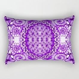 Purple Zentangle Tile Doodle Design Rectangular Pillow
