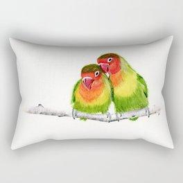 Love Birds - birds, nature, wildlife Rectangular Pillow