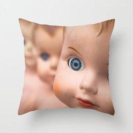 Baby Blue Eyes Throw Pillow