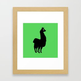 Angry Animals: llama Framed Art Print