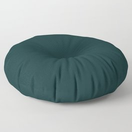 Sparkling Water ~ Dark Green-Blue Floor Pillow