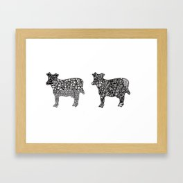 Two Cows Framed Art Print