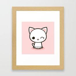 Kawaii Kitty 3 Framed Art Print