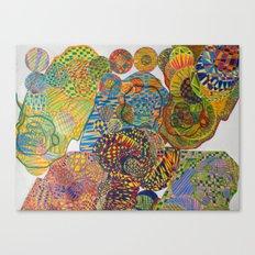 7 Monkeys Orbiting Cosmic Knowledge Canvas Print