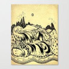 Sleeping Mountains Canvas Print