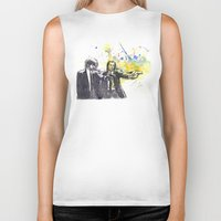 pulp Biker Tanks featuring Pulp Fiction by idillard