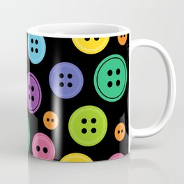 Colorful Rainbow Buttons Coffee Mug