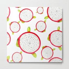 Dragon fruit pattern Metal Print