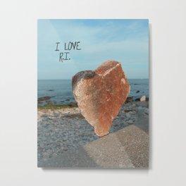 I LOVE Rhode Island Metal Print
