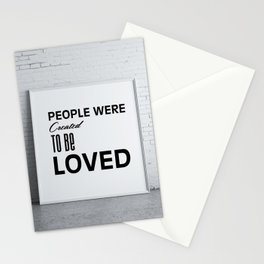 Strong message Stationery Cards