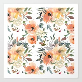 Peachy Keen Pattern Art Print