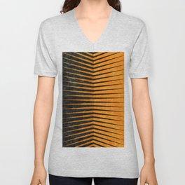 Yellow / Black - Geometric Unisex V-Neck