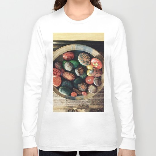 Rock art in ceramic bowl Long Sleeve T-shirt