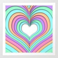 Pastel Heart Art Print