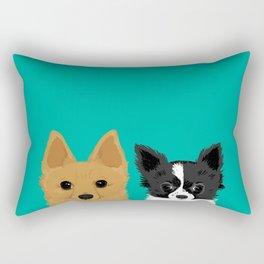 Pippen & Sooty - Teal Rectangular Pillow