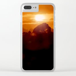 Sunset on the wild forest in the Andes Mountains Clear iPhone Case