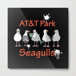 AT&T Seagulls II Metal Print