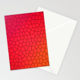 Red Gradient Stained Glass Stationery Cards