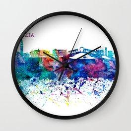 Venezia Italy Skyline Silhouette Impressionistic Blast Wall Clock