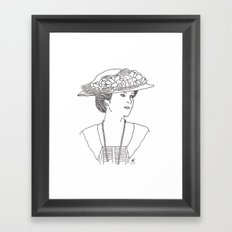 Mary Crawley Framed Art Print