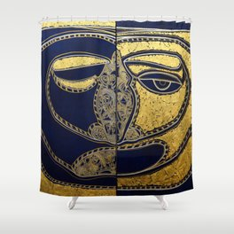 The Masks Within Shower Curtain