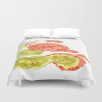 hummingbird Duvet Covers featuring Hummingbird by Thesecretcolors