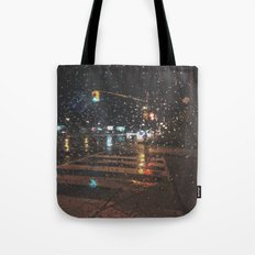 rainy bokeh Tote Bag