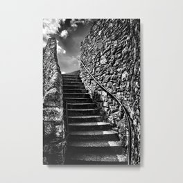 Steps Used By Pilgrim Fathers on Plymouth Barbican Metal Print
