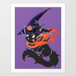 Witch City Kitty Art Print