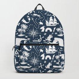 High Seas Adventure on Navy Backpack