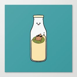 Almond Milk and Chill Canvas Print