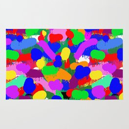 Paint Splodge Colour Abstract Rug