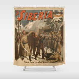 Vintage poster - The New Siberia Shower Curtain