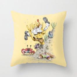 Real Life SpongeBob Throw Pillow