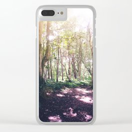 Forest Glare Clear iPhone Case