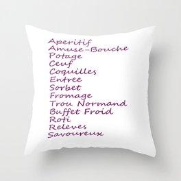 Hannibal Season 1 Episode List Throw Pillow