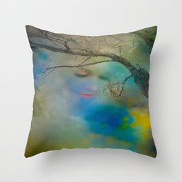 Lady of Light Throw Pillow