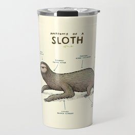 Anatomy of a Sloth Travel Mug