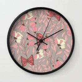 Monarch garden 007 Wall Clock