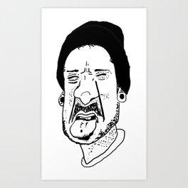 Tongue Out Art Print