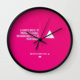 Perfect Logo Series (8 of 11) Wall Clock