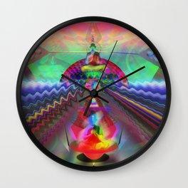 MEDITATION TO HIGHER SELF Wall Clock
