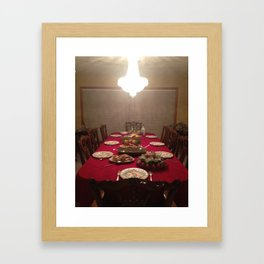 Iranian dinner  Framed Art Print
