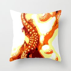 Vintage Salamander Throw Pillow