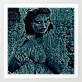 Digital Curving Art Print