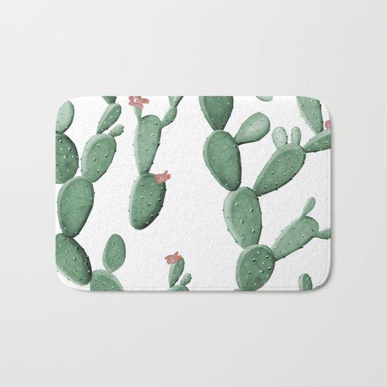Flowering Cacti Bath Mat
