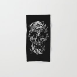 Jungle Skull B&W Hand & Bath Towel