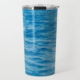 Blue Ocean Waves Travel Mug